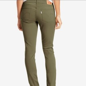 Levi's Army Green 711 Skinny Jeans Size 27